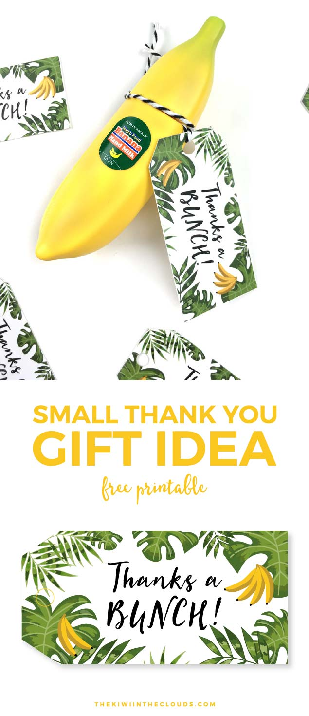 Small Thank You Gift Idea + Free Printable Tag
