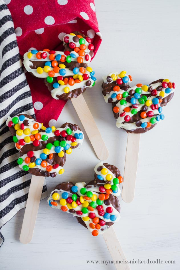 Chocolate Dipped Mickey Rice Krispie Treats | Disneyland Food