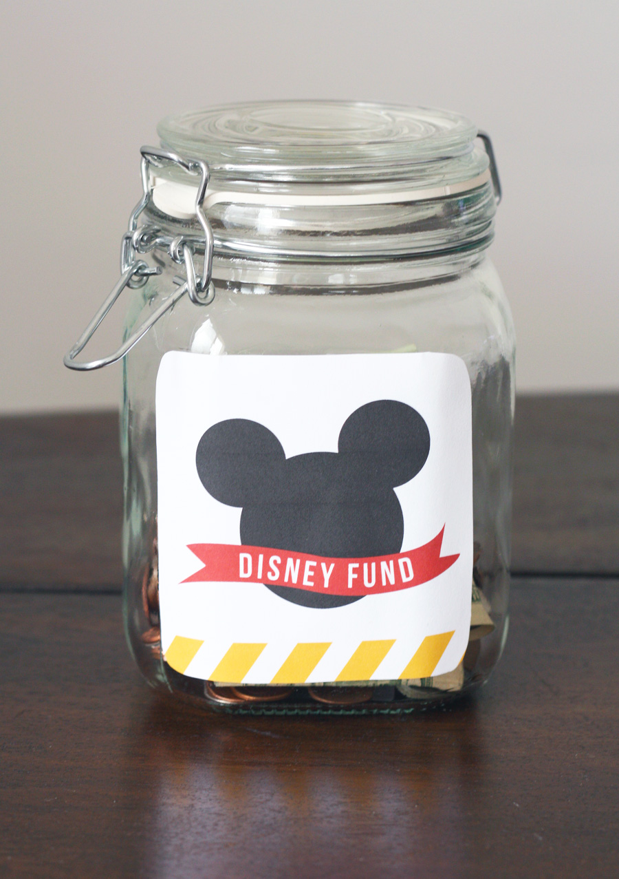 Saving Up For Your Disney Vacations with these adorable Disney Banks. Includes the free printables.