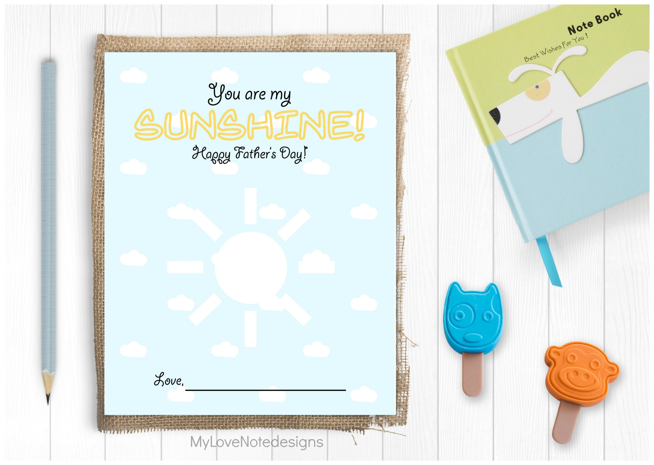 Printable You Are My Sunshine | Fathers Day Crafts