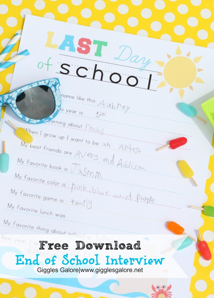 End of School Interview | Giggles Galore