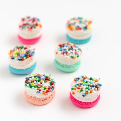 DIY Macaron Push Pins