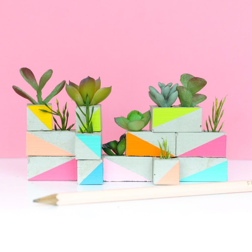 Mini Cinder Block Garden
