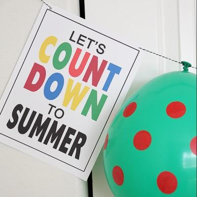 Balloon Countdown to Summer Break