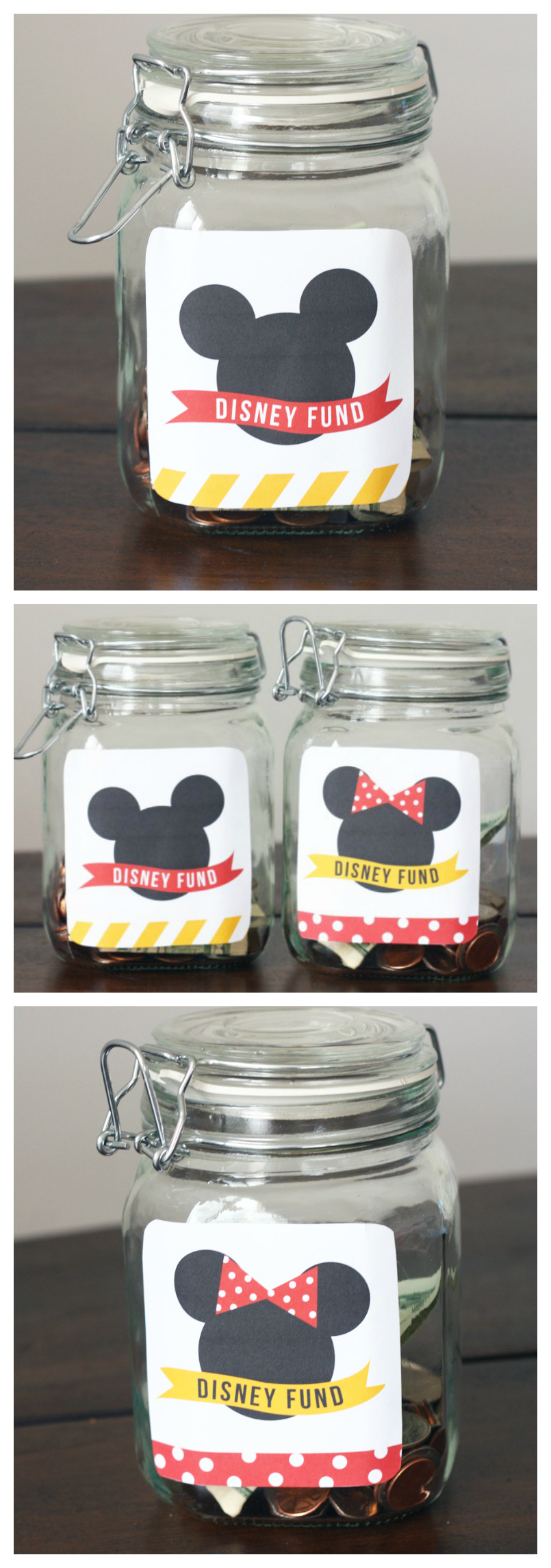 Free Printable Disney Fund Tags | The cutest DIY Disney Bank