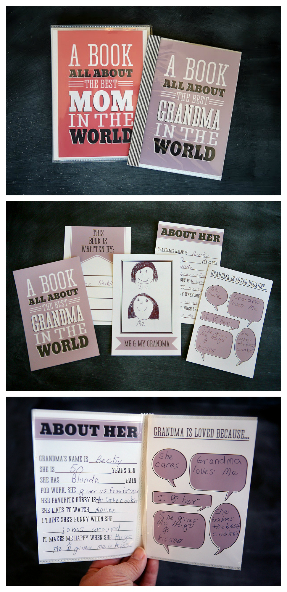 A Fill-in-the-Blank Book For Mom | Mother's Day Craft Ideas