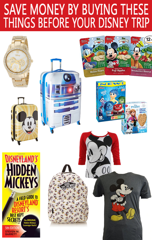 Save Money On Your Disney Vacation by buying these things before you even leave for your trip.