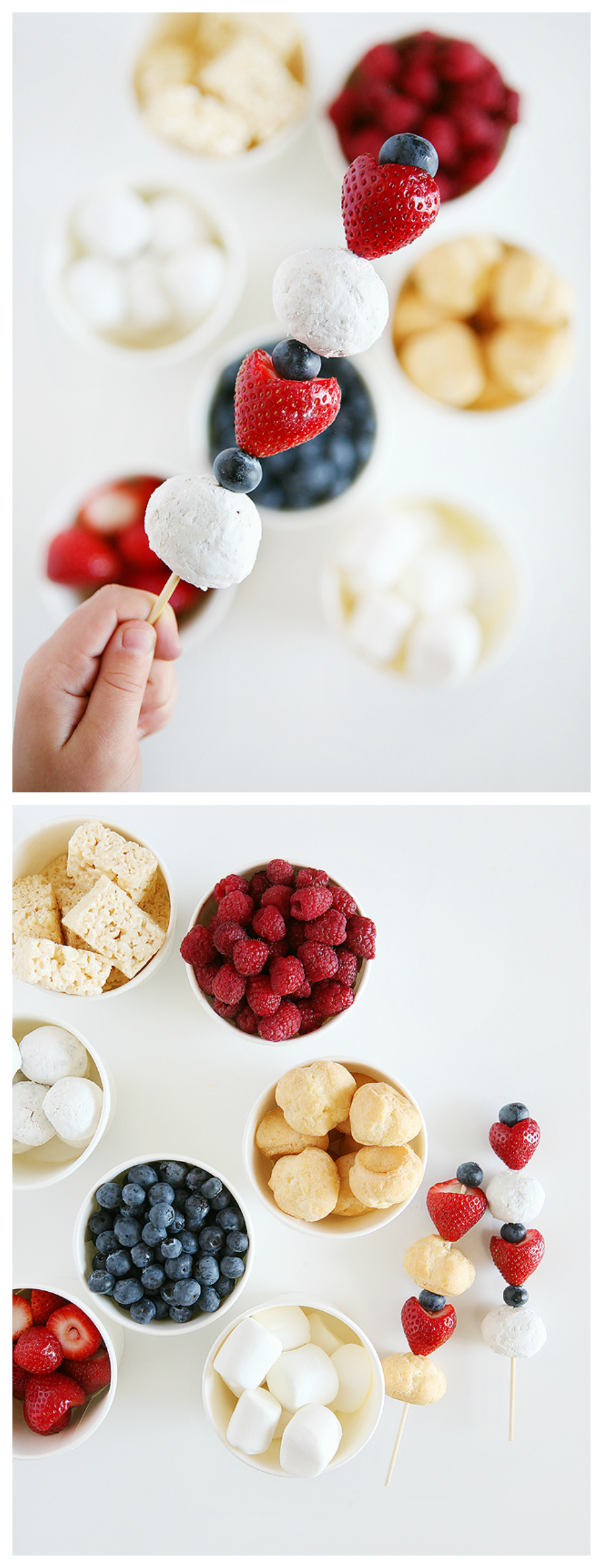 4th of July Dessert Kabobs | 4th of July Treat Ideas