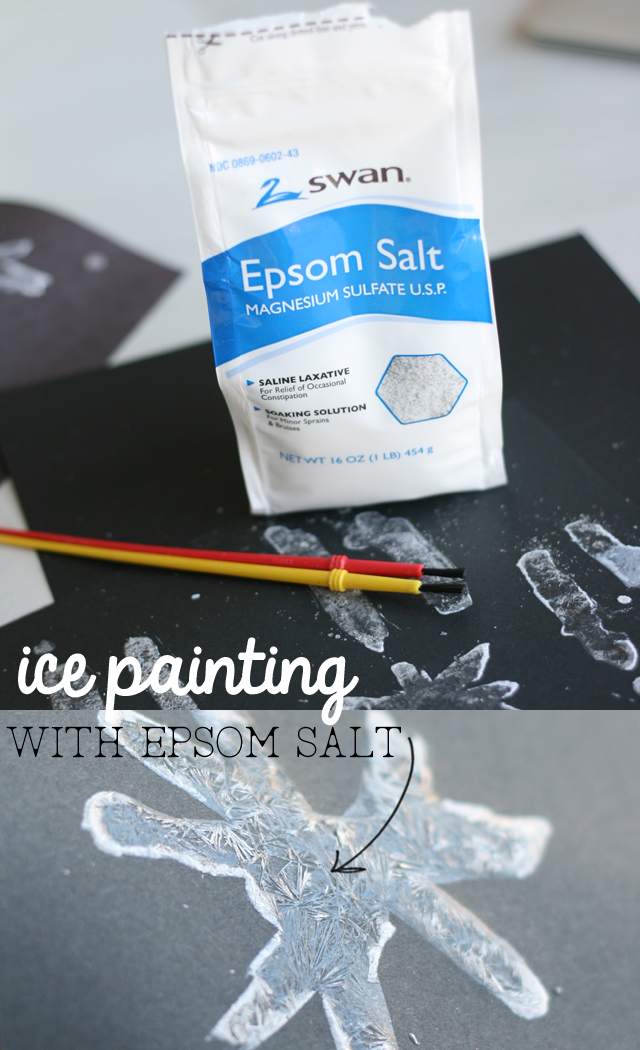 Ice Painting with Epsom Salt