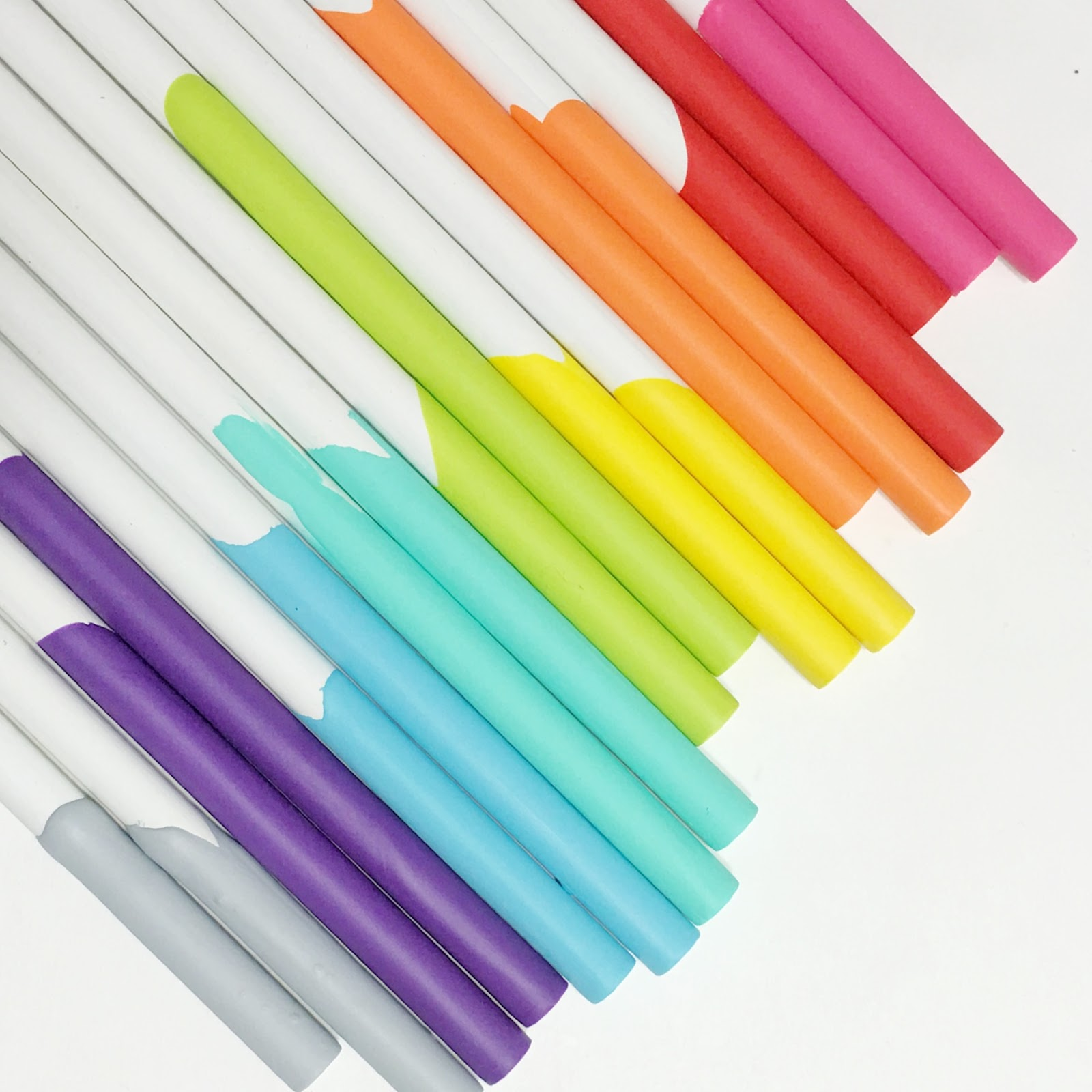 DIY Hand-Dipped Pencils