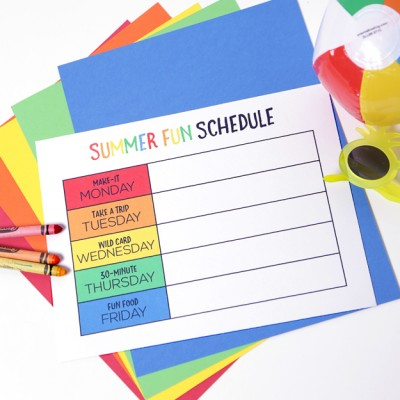 Summer Fun Schedule