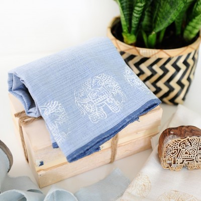 Stamping Dish Towels Tutorial