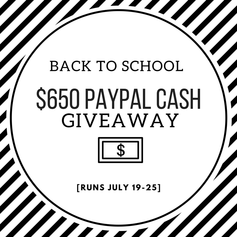 Back To School Giveaway | $650 Paypal Cash Giveaway