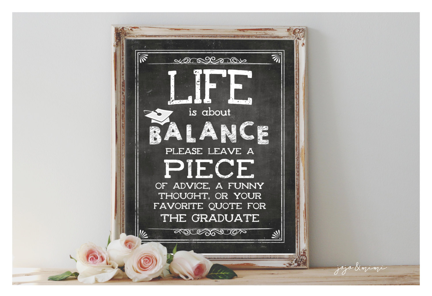 Life Is About Balance | Graduation Print
