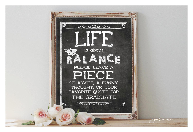 Life Is About Balance   Graduation Print