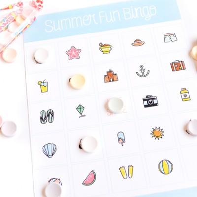 Summer Fun Bingo For Kids