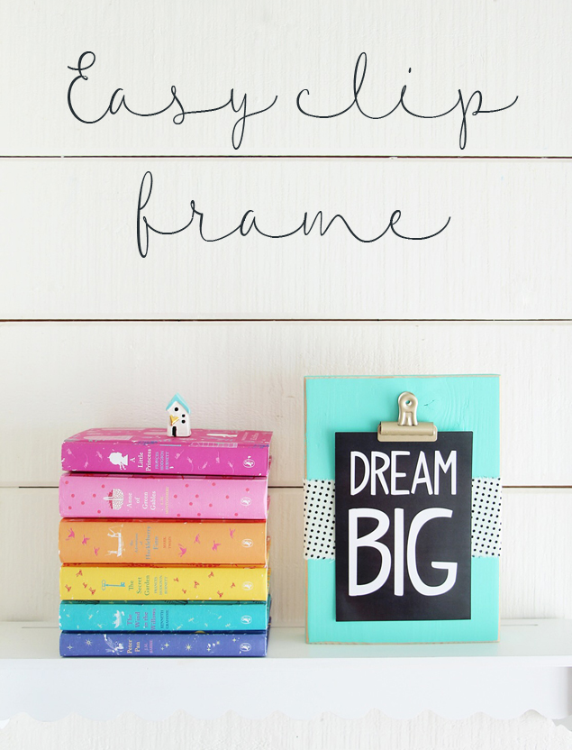 DIY Easy Clip Frame | Super cute and easy to make.