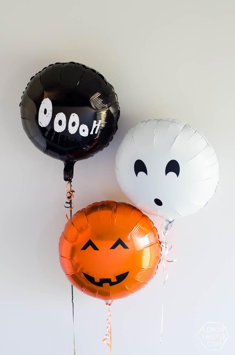 DIY Spooky Foil Balloons