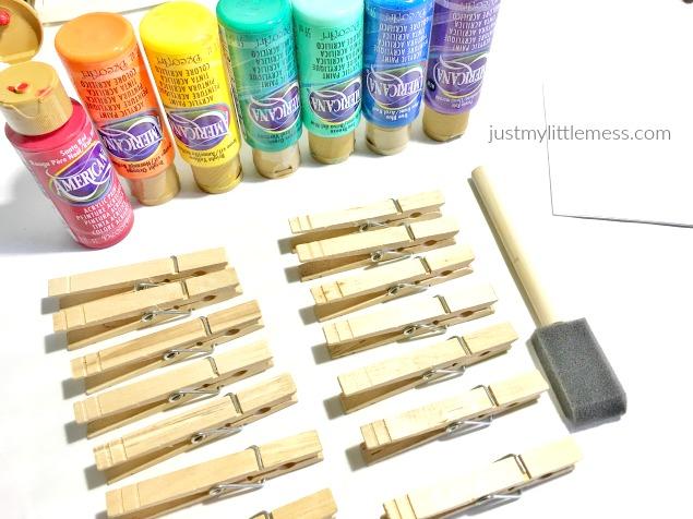 DIY Back to School Classroom Clothespins