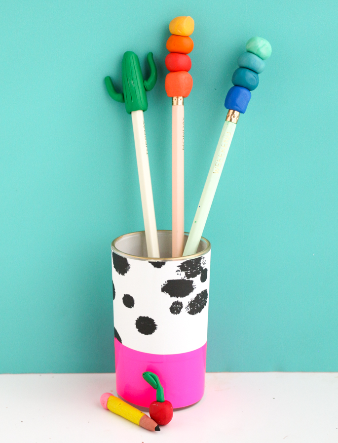 Adorable DIY Shaped Erasers using eraser clay