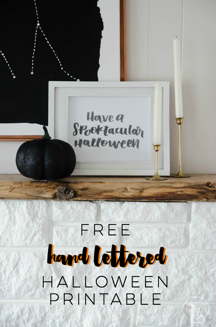 Hand Lettered Halloween Printable | Halloween Printable Decoration