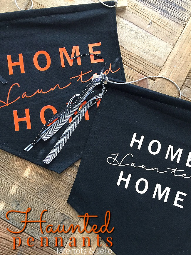 Home Haunted Home Pennants | Halloween Decoration Ideas