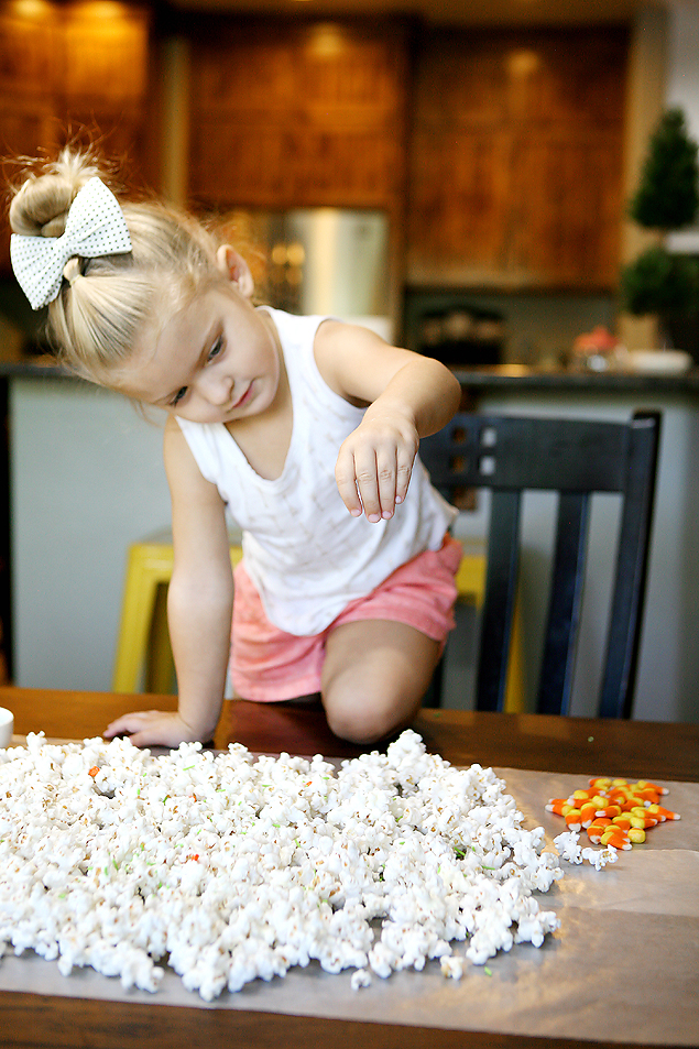 White Chocolate Candy Corn Popcorn | Halloween Treats
