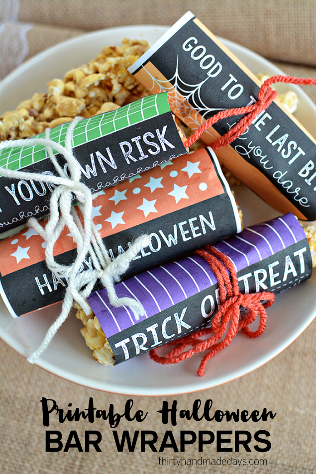Printable Halloween Bar Wrappers | Halloween Treat Ideas