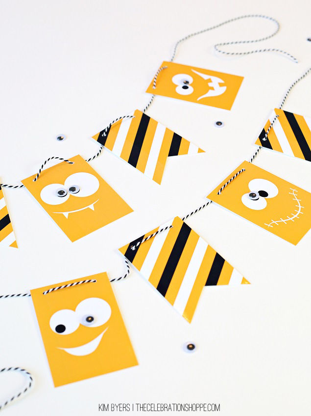 Printable Googly Eye Jack-o-Lantern Banner