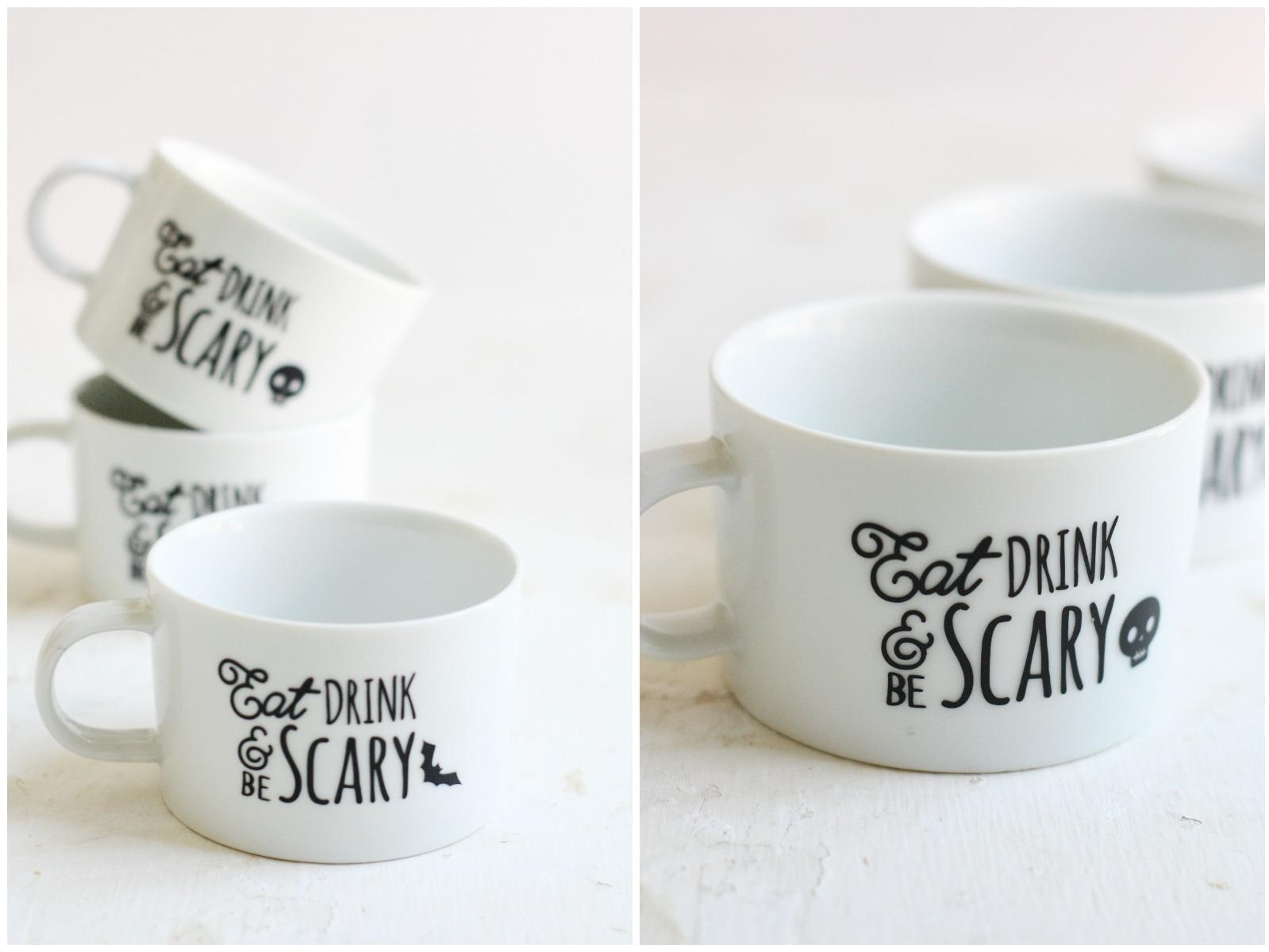 diy halloween mugs - eighteen25