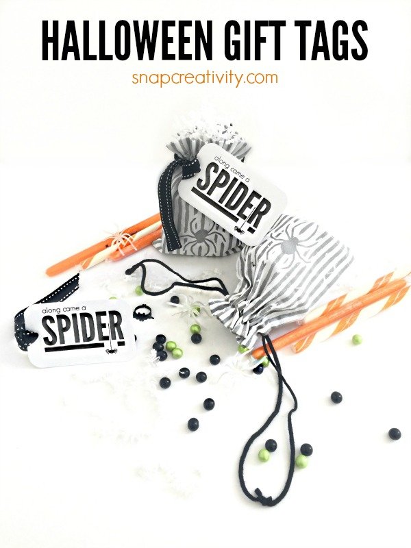 Diy project ideas halloween gift tags along came a spider halloween gift tags negle Gallery