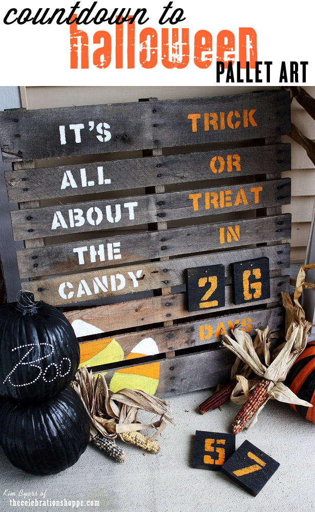 Countdown to Halloween Pallet Art