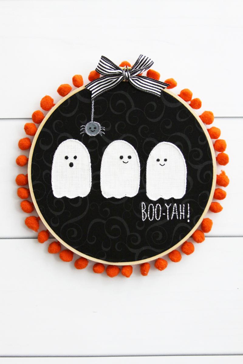 Cute Ghosties Halloween Hoop Art