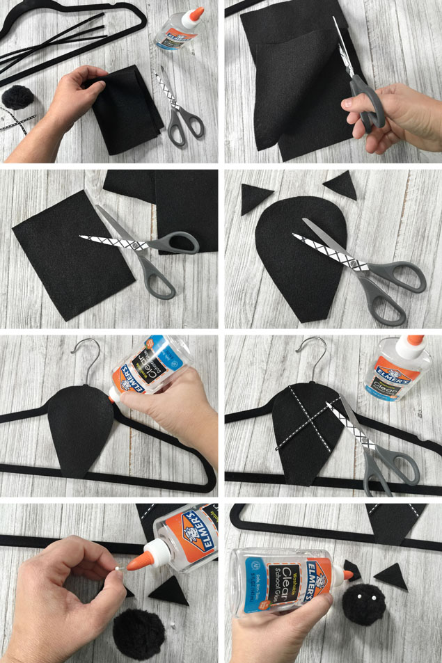 Hanging Hanger Bats | Halloween Crafts