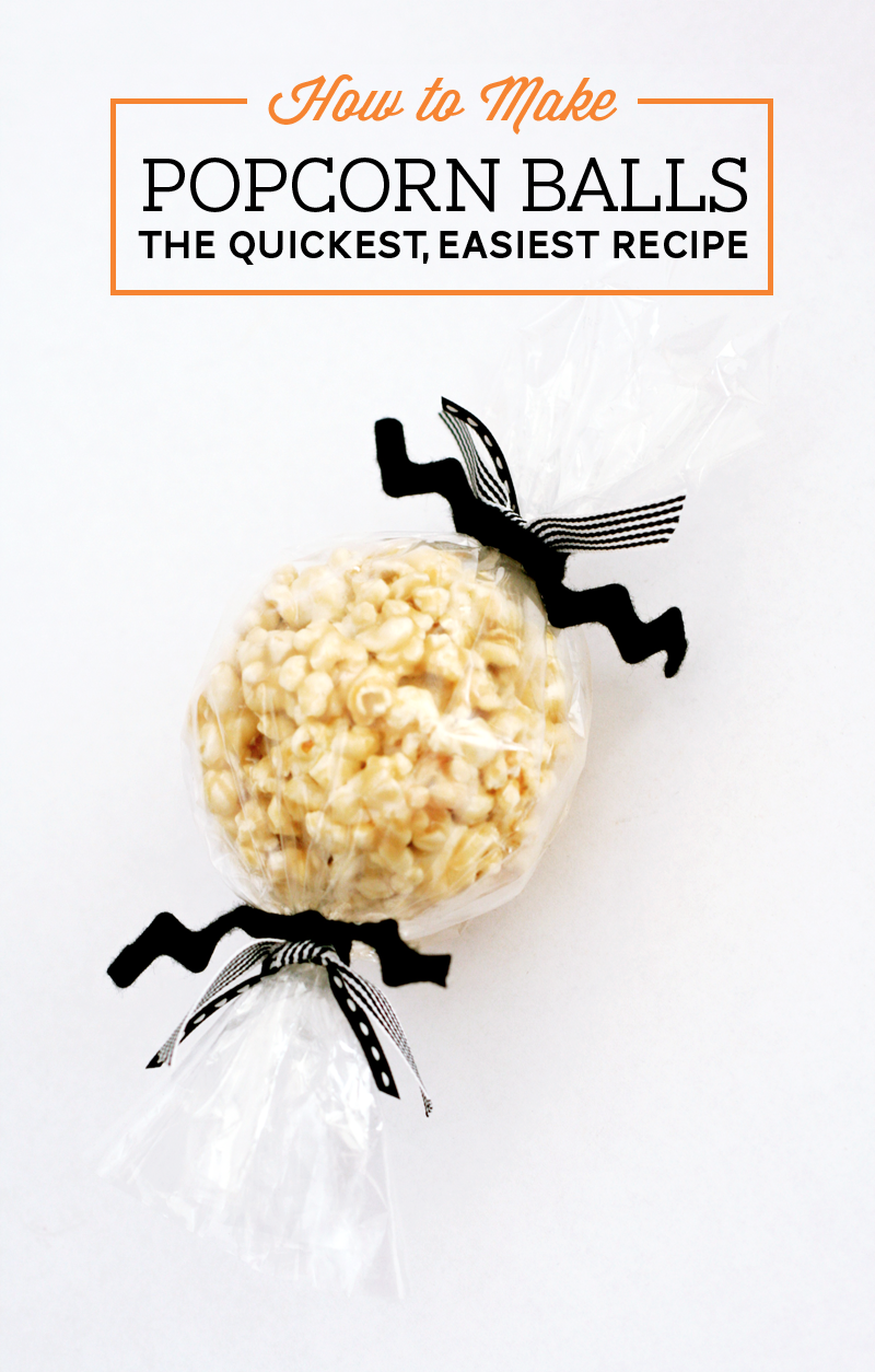 Easiest Popcorn Balls Recipe | Paging Supermom