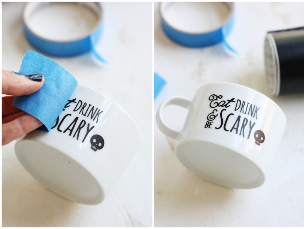 Make Your Own Coffee Mugs for Halloween