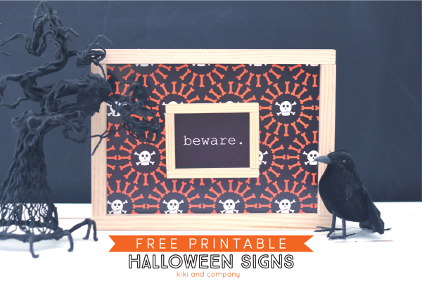 photo about Halloween Signs Printable identified as Totally free Printable Halloween Signs or symptoms - 1825