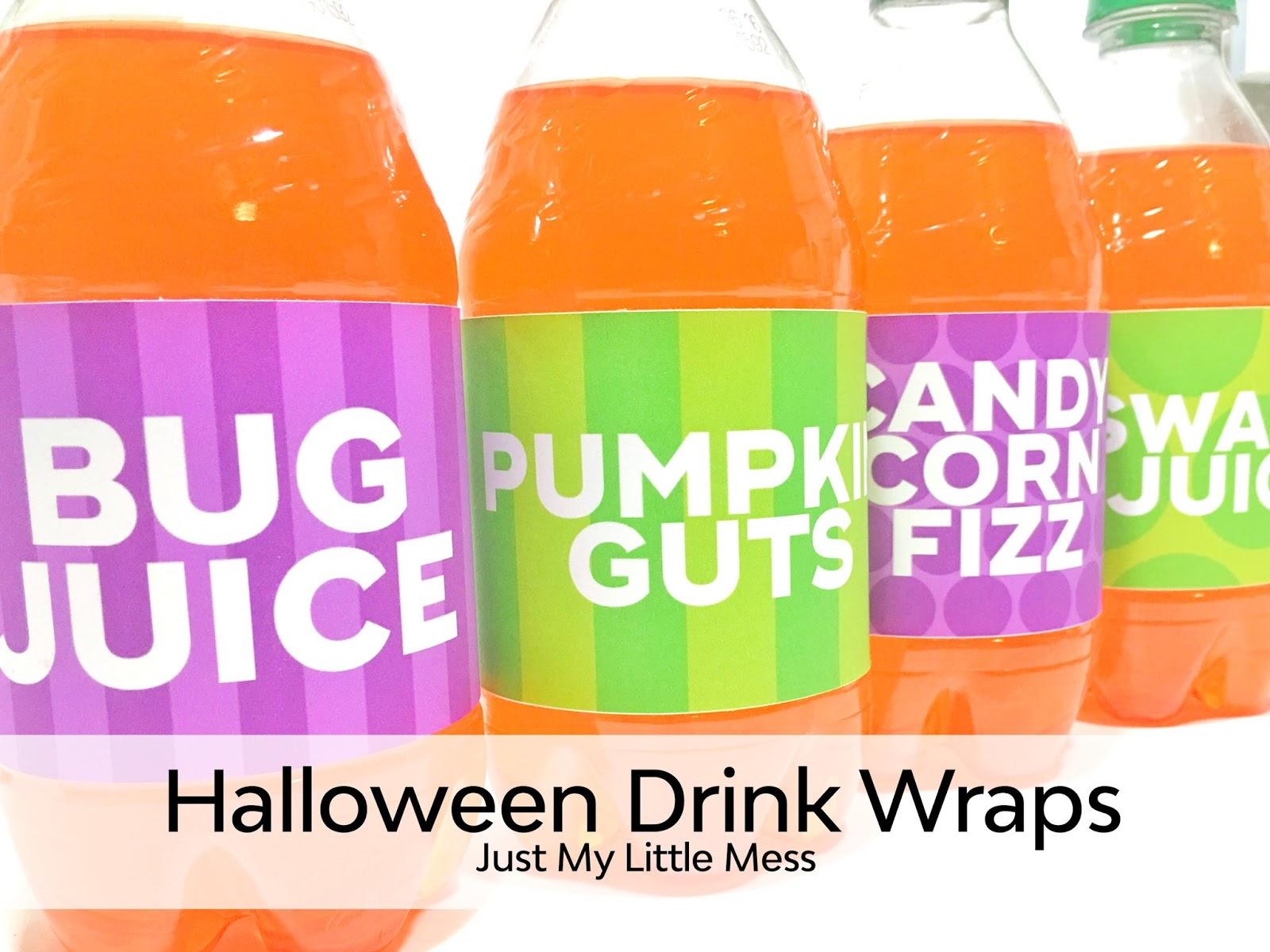 Halloween Drink Wraps | Free Halloween Printables