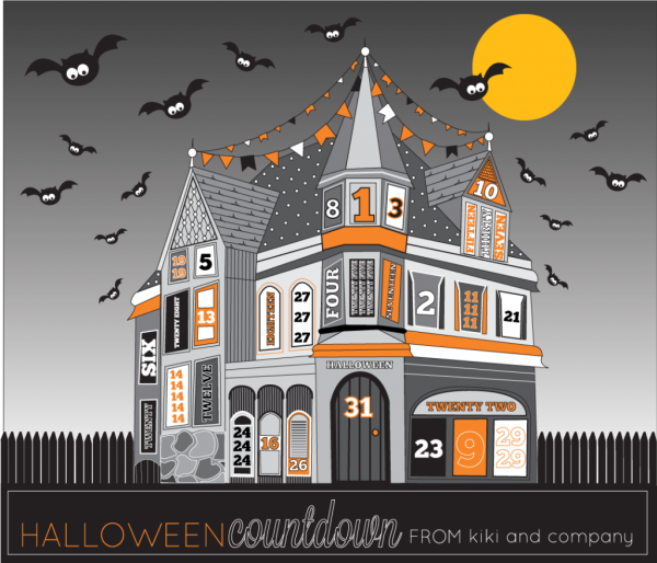 A printable Halloween Countdown House