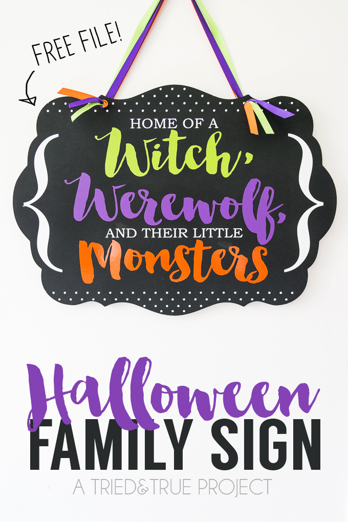 Halloween Family Sign