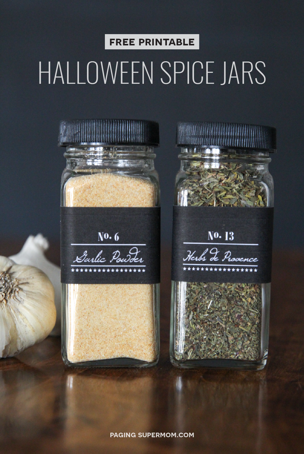 Halloween Spice Jar Labels