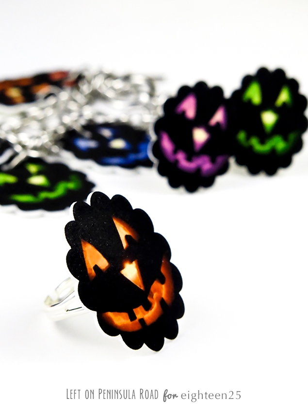 Halloween Shrink Plastic Jewelry | Halloween Crafts