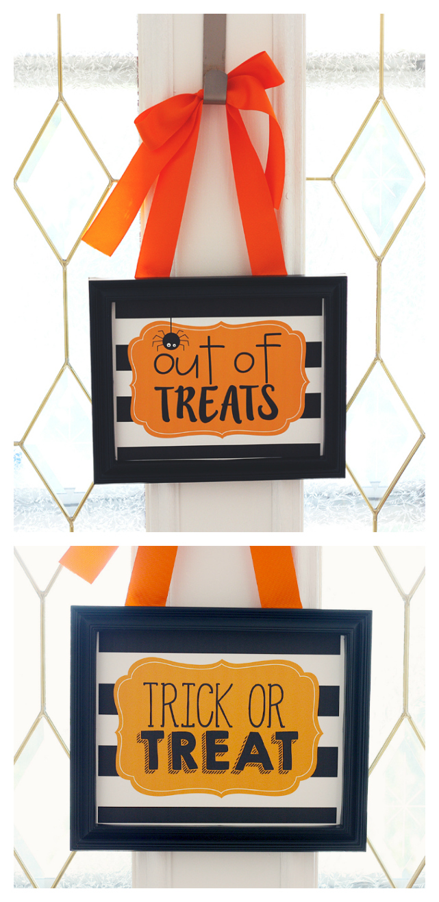 Out of Treats and Trick or Treats Prints | Free Halloween Printables
