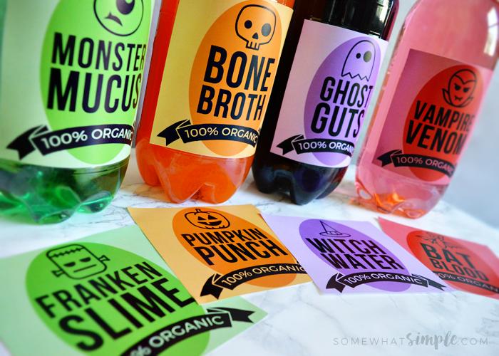 halloween soda pop labels eighteen25