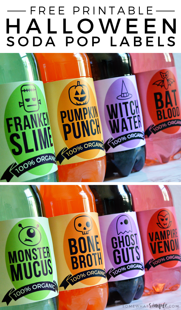Halloween Soda Pop Labels