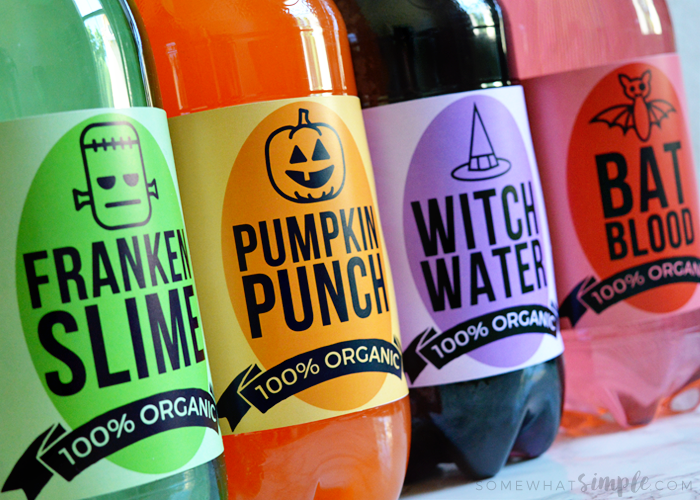 Halloween Soda Pop Labels | Halloween Party Ideas