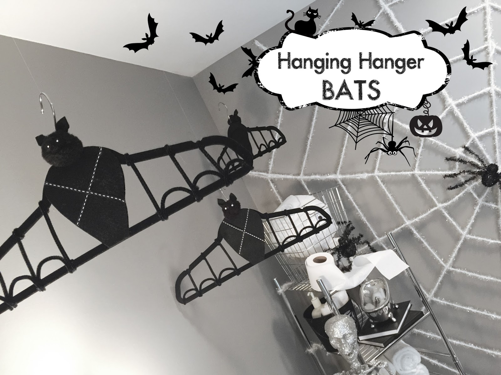 Hanging Hanger Bats   Halloween Crafts