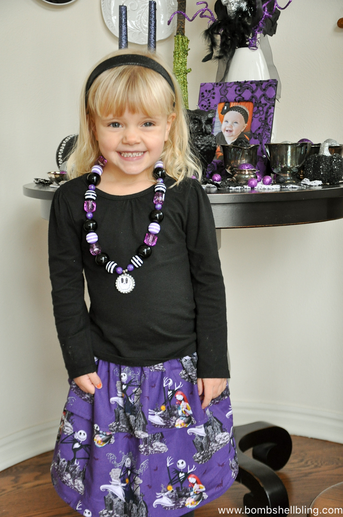 Jack Skellington Necklace | Halloween craft projects