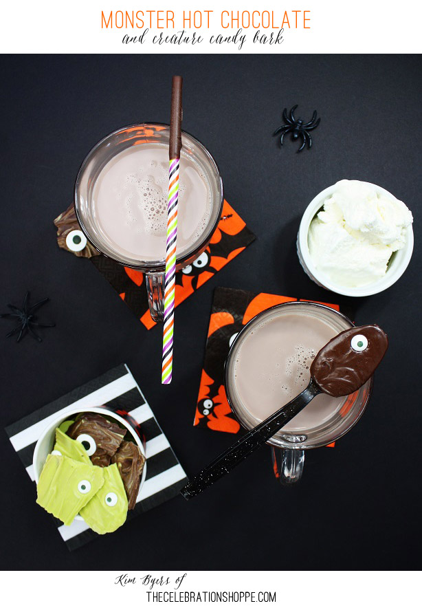 Halloween Party | Monster Hot Chocolate and Creature Candy Bark