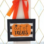 Out Of Treats Free Printable